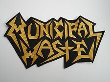 MUNICIPAL WASTE EMBROIDERED BACK PATCH