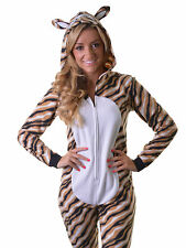 Adult Tiger Onesie & Hood Waites Lingerie Size L Pyjamas Sleepsuit Fancy Dress