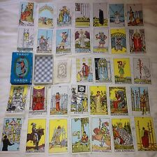 1971 Rare SET blue Tarot Card Deck Waite Rider Vintage Pamela Coleman Smith VGC