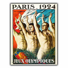PARIS OLYMPICS 1924 METAL SIGN WALL PLAQUE Vintage Travel Advert poster print