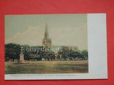 SINGAPORE St. Andrews Cathedral and Raffle's Monument esplanade old postcard