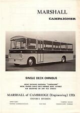 Bus Manufacturer Specification Sheet - Marshall Campaigner Single Decker PSV
