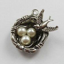 Free Ship 50pcs tibet silver bird's-nest charms 24x20mm