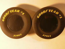 "Lot of 50 Large Goodyear Tires NASCAR Racing Slick Tire Rubber 4.5"" X 2"" Eagle"