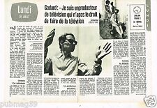 Coupure de presse Clipping 1974 (2 pages) Jean-Luc Godard