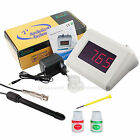 Digital pH Monitor Tester 14.00 pH Range Aquariums w/ Rechargeable Meter Adaptor
