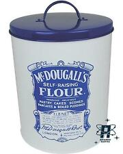 NEW MCDOUGALLS SELF RAISING FLOUR BISCUIT TIN BARREL IN A VINTAGE RETRO STYLE