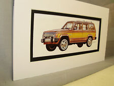 1985 AMC Jeep Grand Wagoneer     Artist Auto Museum  Full color Illustrated