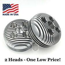 2 (TWO) 6cc Billet High Compression Heads for 2-stroke 66/80cc Motorized Bicycle