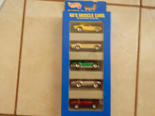 60'S Muscle Cars 5 gift pack Hot Wheels Corvette Mustang Camaro  Olds 442 Cobra