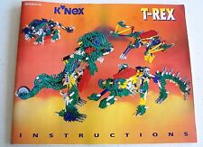 K'NEX T-Rex Instructions booklet ONLY manual 14123 24123 building dinosaur book
