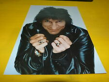 RON WOOD & ROLLING STONES - Mini poster couleurs recto-verso !!!!!!!!!!!!!