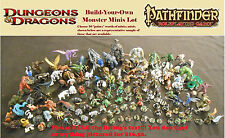 Choose-Your-Own D&D Monsters minis lot miniatures Dungeons Dragons Pathfinder