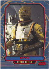 STAR WARS GALACTIC FILES SERIES 1 RED PARALLEL INSERT #135 BOSSK 32/35 RARE
