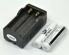 2 Piles Accus 5000mAh 18650 3.7V Li-ion Rechargeable Batterie + Chargeur • HOT •
