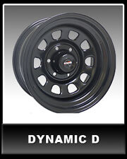 "DYNAMIC D-SHAPE DRIFT Steel Black Sunrasia 16x8"" 4x100 Steel Rim 10P 15P"