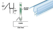 """CRL Co-Extruded Clear Bottom Wipe with Drip Rail for 1/4"""" Glass - 25 in long"""