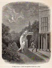 MARY LEWYD WOLF COSTUM ? COSTUME LOUP WALES GALLES IMAGE 1867 OLD PRINT