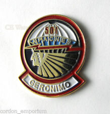 UNITED STATES ARMY 501ST AIRBORNE APACHES LAPEL PIN BADGE 1 INCH