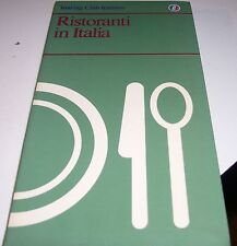 LIBRO RISTORANTI IN ITALIA TOURING CLUB ITALIANO 1986