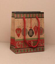 12 Wholesale Christmas Gift Bags Packaging Xmas brown bauble small 0876