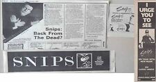 SNIPS : CUTTINGS COLLECTION -steve parsons- interview adverts