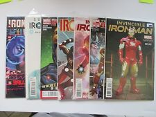 LOT OF 7 MARVEL IRON MAN VARIANTS 2015 DIFFERENT TITLES