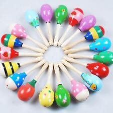 Mini Wooden Ball Children Toys Percussion Musical Instruments Sand Hammer Smooth