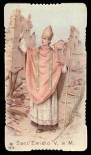 """santino-holy card"""""""" ediz. AR n.2215 S.EMIDIO V.M."""
