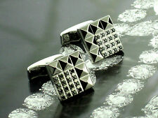 Dupont Cufflinks with 32 Black Diamonds NEW! MSRP $3,100