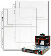 20 - 3 Pocket 4x6 Photo Postcard Page Protector by BCW Pro3T  fits 3 ring binder