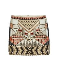 ALL SAINTS NEWAZ TRIBAL EMBELLISHED MINI SKIRT 14 42 £165!