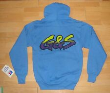 G&S / Gordon & Smith / Vintage Hooded Top Original 80s Skateboard Surfing S - Bl