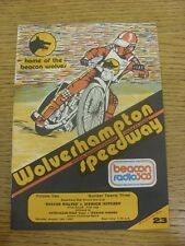 19/08/1985 Speedway Programme: Wolverhampton v Ipswich [Knock Out Cup] & Wolverh