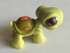 Littlest Pet Shop - RARE - 1st Gen - Turtle Orange Strips  - Brown Eye - No 7