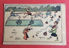 CPA. Illustrateur MORISS. Le Jeu. 10 Ans. Toupie. Sable. Cheval. Ballon. 1905.