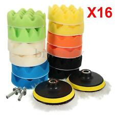 16pcs 100mm/4inch Gross Polishing Foam Waxing Buffing Pads Car Drill Adapte Kit