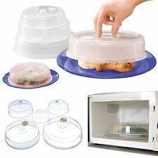 Set of 5 Ventilated Microwave Food Plate Covers Lids