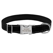 Nylon Reflective Custom Personalised Dog Collars Pet Nameplate Free Engraving