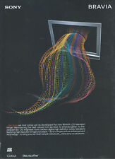 Sony Bravia LCD TV 2006 Magazine Advert #3116