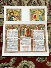 *NEW* Traditional Roman Catholic Altar Cards Set In Latin *BRIGHT VIVID COLORS!*