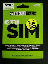 Preloaded Simple Mobile Sim Card INCLUDE FIRST MONTH $40 PLAN FREE