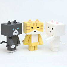 Yotsuba Nyanboard Danboard Cat 3 Figure Set A Sweet Japan Kawaii Kitty Nyanbo