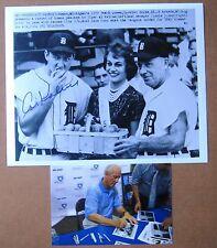 1959  Detroit Tigers SIGNED Al   Kaline  & Romeo MI Peach Queen Photo !