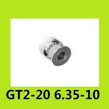 20 Teeth GT2 Timing Pulley Bore 6.35mm Pitch 2mm For Belt W=9mm 2GT 3D Printer