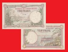 Belgian Congo 5 Francs 1929. UNC - Replica/Reproductions