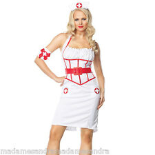 SEXY NURSE COSTUME OUTFIT Fancy Dress Doctors & Nurses HALLOWEEN sizes 10 12 14