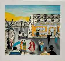 "Linnea Pergola - ""Paradise Diner"" , serigraph on hand-made paper"