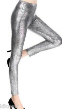 Womens - Snakeskin(ish) Pattern (Silver) Stretch Leggings