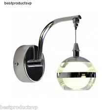 Indoor Wall Light Fixture Sconce Modern Bathroom Chrome Vanity Crystal Mini Led